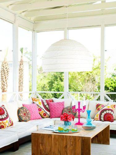 white colours wood porch